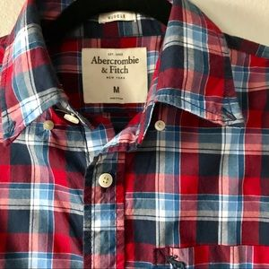 Abercrombie & Fitch Muscle Plaid Short Sleeve